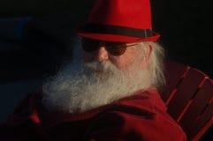 Reifer Mann mit langem weißem Bart Stockbild