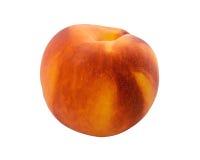 Reifer Pfirsich auf einem Weiß Stockfotografie