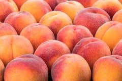 Reifer Pfirsichfruchthintergrund, Abschluss oben Lizenzfreies Stockfoto
