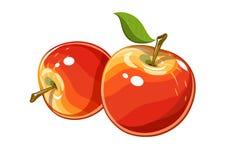 Reifer saftiger Apfel Lizenzfreies Stockfoto