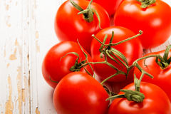 Reifer Tomatenhintergrund Stockfotografie