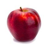 Reifer und saftiger roter Apfel ein Schaft aufwärts getrennt Lizenzfreie Stockbilder