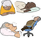 Reifes Leute-Schlafen Stockfoto