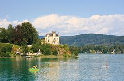 Reifnitz Castle on Lake Worth in Carinthia, Austria Stock Images