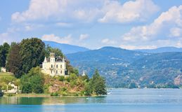 Reifnitz Castle on Lake Worth in Carinthia, Austria Stock Photo