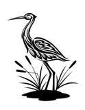Reiger op het moeraslandschap royalty-vrije illustratie