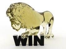 Reign supreme concept - glass lion Stock Photo