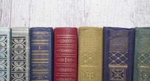 Reihe Bücher lizenzfreie stockfotos