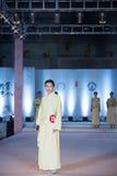 9. Reihe Bambusspurmode-Show Lizenzfreies Stockbild