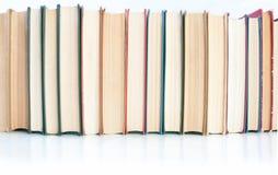 Reihe der Bücher stockfotos