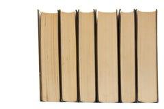 Reihe der Bücher stockbild