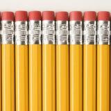 Reihe der Bleistifte. Stockfoto