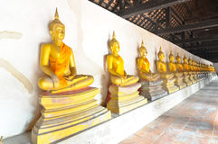 Reihe der Buddha-Bilder stockfotos