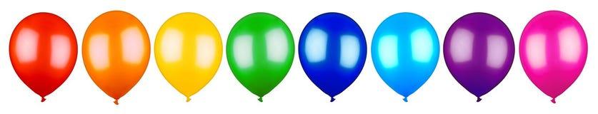 Reihe der bunten Ballone Stockbild