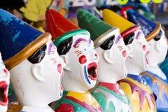 Reihe der Clowne Lizenzfreies Stockbild