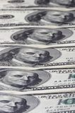 Reihe der Dollar Lizenzfreies Stockbild