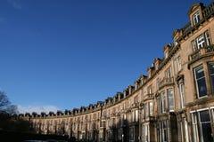 Reihe der Edinburgh-Häuser Lizenzfreie Stockfotografie