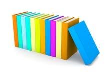 Reihe der farbigen Bücher Stockbilder