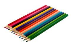 Reihe der farbigen Bleistifte Lizenzfreie Stockfotos