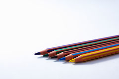 Reihe der farbigen Bleistifte Lizenzfreies Stockfoto