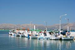 Reihe der Fischerboote Lizenzfreie Stockfotos