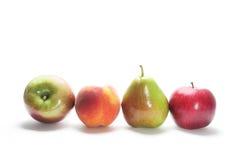 Reihe der frischen Früchte Stockbild