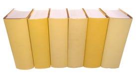 Reihe der gelben Bücher stockfoto