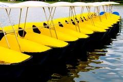 Reihe der gelben watercycles Lizenzfreies Stockfoto