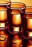 Reihe der Getränkschüsse Lizenzfreies Stockbild