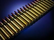 Reihe der Gewehrkugeln Lizenzfreie Stockfotografie