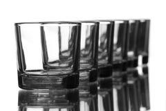 Reihe der Gläser Lizenzfreies Stockfoto