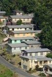 Reihe der Häuser Stockbilder