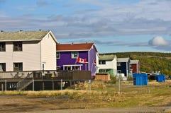 Reihe der Häuser Lizenzfreie Stockfotos