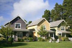 Reihe der Häuser Lizenzfreies Stockfoto