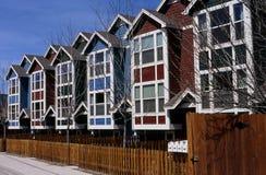 Reihe der Häuser Lizenzfreies Stockbild