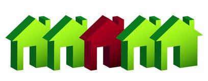 Reihe der Hausabbildungauslegung vorbei Lizenzfreie Stockfotos