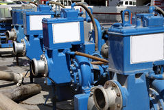 Reihe der Hochleistungspumpe für pumpendes Wasser Stockbilder
