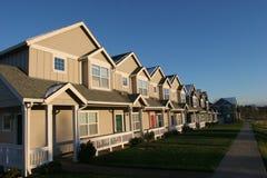 Reihe der Häuser Lizenzfreie Stockbilder