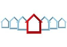 Reihe der Häuser Stockfoto