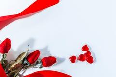 Reihe der Innerer Valentinsgruß-rote abstrakte Tapete Hintergrundcollage lizenzfreies stockbild