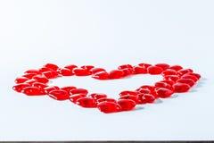 Reihe der Innerer Valentinsgruß-rote abstrakte Tapete Hintergrundcollage stockfoto