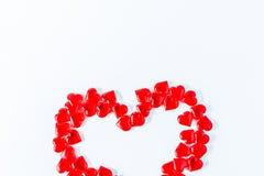 Reihe der Innerer Valentinsgruß-rote abstrakte Tapete Hintergrundcollage stockfotografie