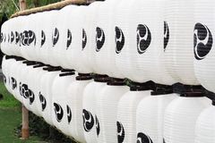 Reihe der japanischen Art der Papierlaternen Lizenzfreie Stockbilder
