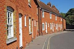 Reihe der Kent-Häuschen des roten Ziegelsteines Lizenzfreies Stockfoto