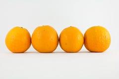 Reihe der Orangen Stockfoto