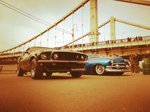 Reihe der Retro- Autos Stockbilder