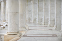 Reihe der Säulen Stockfoto