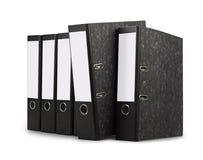 Reihe der schwarzen Bürofaltblätter Lizenzfreie Stockbilder