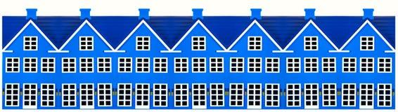 Reihe der Spielzeug-Häuser lizenzfreie stockfotos
