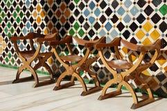 Reihe der Stühle Stockfotografie